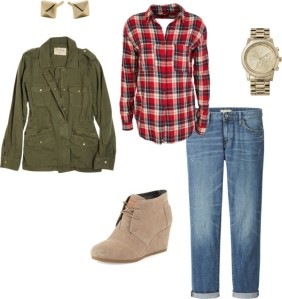 Fall outfit, plaid